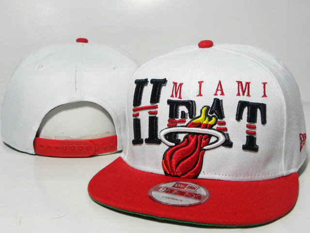 Miami Heat White Snapback Hat TY
